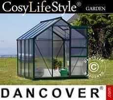Greenhouse Polycarbonate 4.78 m², 1.9x2.52x2.01 m, Green