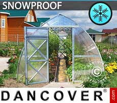 Greenhouse Polycarbonate, Arrow 24 m², 3x8 m, Silver