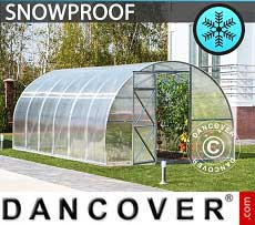 Greenhouse Polycarbonate, Strong 24 m², 3x8 m, Silver
