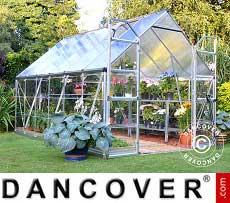 Greenhouse Polycarbonate Balance 8.9 m², 2.44x3.67x2.29 m, Silver