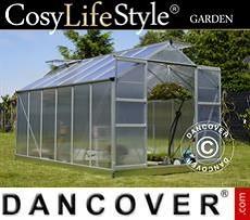 Greenhouse Polycarbonate 9.13 m², 2.48x3.68x2.26 m, Aluminium