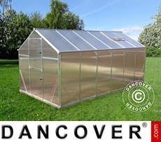 Greenhouse polycarbonate SANUS L-7, 6.38 m², 2.2x2.9x2.15 m, Silver