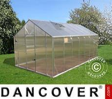 Greenhouse polycarbonate SANUS L-15, 14.08 m², 2.2x6.4x2.15 m, Silver