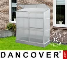 Lean-to Greenhouse Polycarbonate 0.58x1.3x1.4 m, 0.75 m², Aluminium
