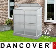 Lean-to Greenhouse Polycarbonate 0.58x1.3x1.4 m, 0.75 m², Aluminium
