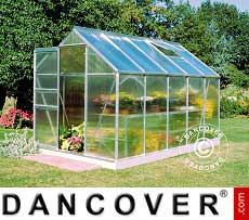 Greenhouse Polycarbonate Halls Popular 6.2 m², 1.93x3.19x1.95 m, Aluminium