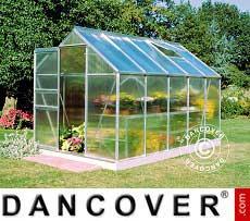 Greenhouse Polycarbonate Halls Popular 6.2 m², 1.93x3.19x1.95 m, Aluminium