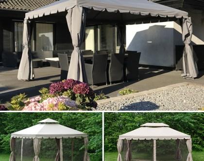 Ein eleganter Pavillon als schöner Mittelpunkt im Garten