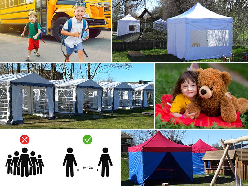 soziale Distanzierung, Zelten, Zelt, Faltzelt, Faltzelte, Partyzelte, FleXtents®-Faltzelte, soziale Distanz, Partyzelt, Dancover, Dancovershop