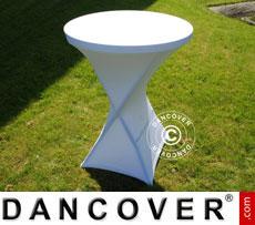 Stretch Tischüberzug, Ø80x110cm, Weiß