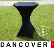 Stretch Tischüberzug, Ø80x110cm, Schwarz