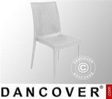 Stuhl, Rattan Bistrot, Weiß, 6 Stück