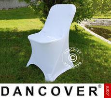 Stretch Stuhlüberzug, 44x44x80cm, Weiß (10 stck.)