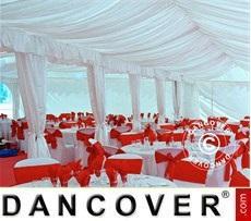 Partyzelt-Dekoration - Innenausstattungspaket, weiß, für 4x6m Festzelt