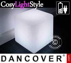 LED-Beleuchtung würfelförmig, 40x40cm, Mehrfachfunktion, mehrfarbig