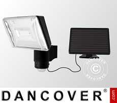 Scheinwerfer, LED, mit Solarzellenpanel, Sensor und Batterie