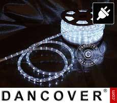 Lichtschlauch, 25m LED, Ø 1,2cm, Mehrfachfunktion, Kalt weiß