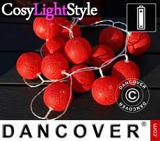 Lichterkette Kugeln, Leo, 30 LEDs, Rot