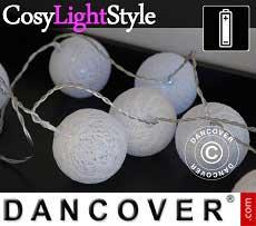 Lichterkette Kugeln, Aries, 30 LEDs, Weiß
