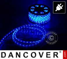 Lichtschlauch, 50m LED, Ø 1,2cm, Mehrfachfunktion, Blau