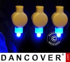 LED-Licht für Papierlaterne, 20 Stück, blau
