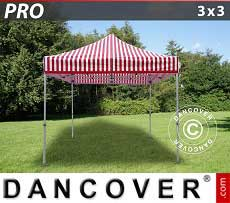 Faltzelt FleXtents PRO 3x3m Gestreift