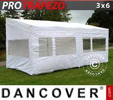Faltzelt FleXtents PRO Trapezo 3x6m, mit 4 wänden