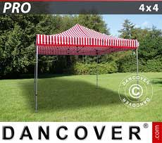 Faltzelt FleXtents PRO 4x4m Gestreift