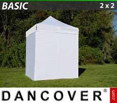 Faltzelt FleXtents Basic 300, 2x2m Weiß, mit 4 wänden