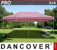 Faltzelt FleXtents PRO 3x6m Gestreift