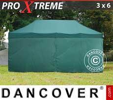 Faltzelt FleXtents Xtreme 3x6m Grün, mit 6 wänden