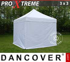 Faltzelt FleXtents Xtreme 3x3m Weiß, mit 4 wänden