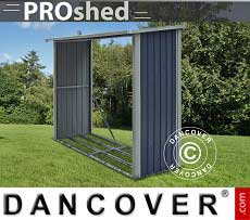 Holzlager 2,42x0,89x1,56m ProShed, Anthrazit