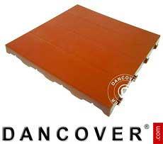 Kunststoffboden, Basic, Piastrella, Terracotta-Rot, 72 m²