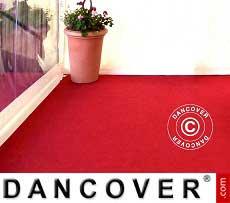 Partyboden Teppich 2,5x12m Rot