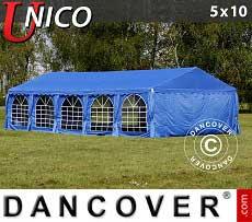 Partyzelt UNICO 5x10m, Blau