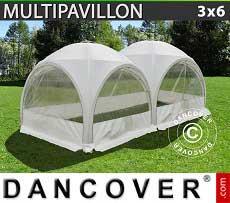 Partyzelt Multipavillon 3x6m, Weiß
