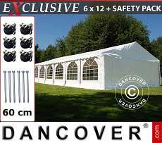 Partyzelt Exclusive 6x12m PVC, Weiß