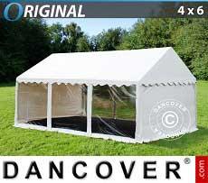 Partyzelt Original 4x6m PVC, Panorama, Weiß