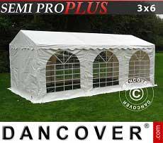 Partyzelt Plus 3x6m PVC, Weiß