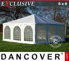 Pagodenzelt Exclusive 6x6 m PVC, Weiß