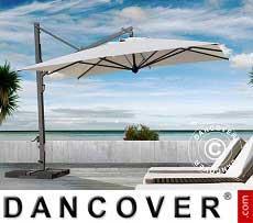 Freiarm-Sonnenschirm Galileo Maxi, 4x4m, Ekrü