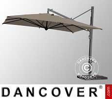 Freiarm-Sonnenschirm Galileo Maxi, 4x4m, Grau taupe