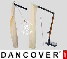 Sonnenschirm-Tuch mit Reißverschluss für Alu Poker 6x6m, Ekrü
