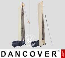 Sonnenschirm-Tuch mit Reißverschluss für Galileo White 3x3m, Ekrü