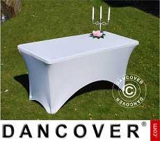 Stretch Tischüberzug, 150x72x74cm, Weiß