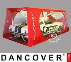 Carcoon Veloce 4,88x2,3 m Durchsichtig/Rot, Innenbereich