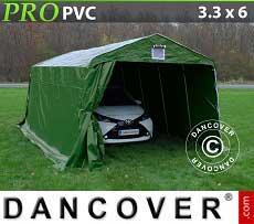 Zeltgarage PRO 3,3x6x2,4 m PVC grün