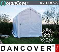 Bootszelt Oceancover 4x12x4,5x5,5m, Weiß