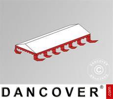 Dachplane für das Partyzelt Exclusive 6x12m PVC, Weiß / Rot